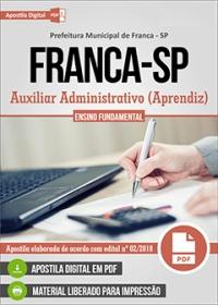 Auxiliar Administrativo (Aprendiz) - Prefeitura de Franca - SP