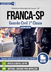 Guarda Civil 1ª Classe - Prefeitura de Franca - SP