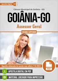 Assessor Geral - Câmara de Goiânia - GO