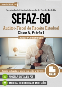 Auditor-Fiscal da Receita Estadual - SEFAZ-GO