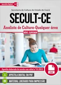Analista de Cultura - Qualquer Área - SECULT-CE