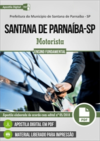 Motorista - Prefeitura de Santana de Parnaíba - SP