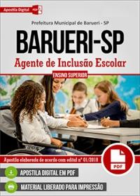 Agente de Inclusão Escolar - Prefeitura de Barueri - SP