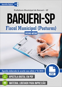 Fiscal Municipal (Posturas) - Prefeitura de Barueri - SP