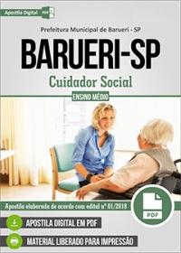 Cuidador Social - Prefeitura de Barueri - SP