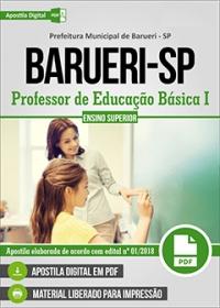 Professor de Educação Básica I - Prefeitura de Barueri - SP