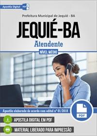 Atendente - Prefeitura de Jequié - BA
