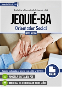 Orientador Social - Prefeitura de Jequié - BA