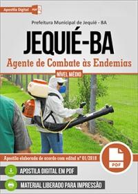 Agente de Combate às Endemias - Prefeitura de Jequié - BA