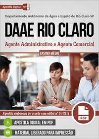 Agente Administrativo e Agente Comercial - DAAE Rio Claro