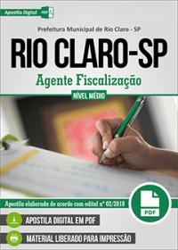 Agente Fiscalização - Prefeitura de Rio Claro - SP