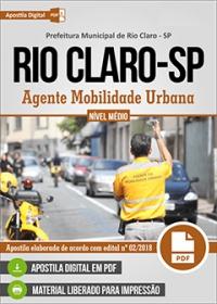 Agente Mobilidade Urbana - Prefeitura de Rio Claro - SP