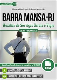 Auxiliar de Serviços Gerais e Vigia - Câmara de Barra Mansa - RJ