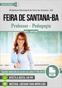 Professor - Pedagogia - Prefeitura de Feira de Santana - BA