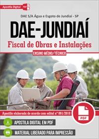 Fiscal de Obras e Instalações - DAE S/A - Jundiaí-SP