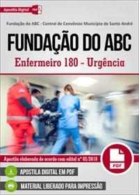 Enfermeiro 180 - Urgência - Fundação do ABC