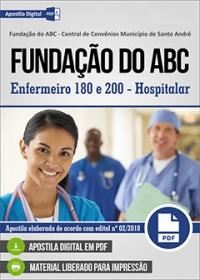 Enfermeiro 180 e 200 - Hospitalar - Fundação do ABC