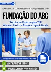 Técnico de Enfermagem 200 - Atenção Básica - Fundação do ABC