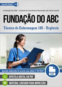Técnico de Enfermagem 180 - Urgência - Fundação do ABC