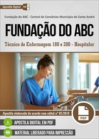Técnico de Enfermagem 180 e 200 - Hospitalar - Fundação do ABC