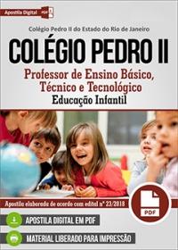Professor de Ensino Básico - Educação Infantil - Colégio Pedro II