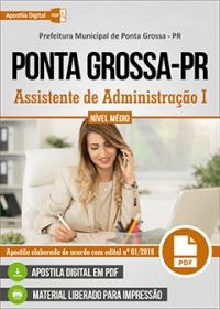 Assistente de Administração I - Prefeitura de Ponta Grossa - PR
