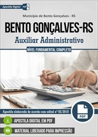Auxiliar Administrativo - Prefeitura de Bento Gonçalves - RS