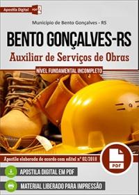 Auxiliar de Serviços de Obras - Prefeitura de Bento Gonçalves - RS