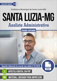 Analista Administrativo - Prefeitura de Santa Luzia - MG