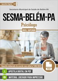 Psicólogo - SESMA-Belém-PA
