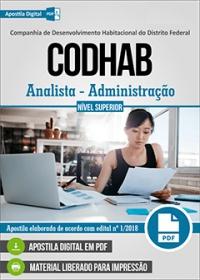 Analista - Administração - CODHAB