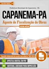Agente de Fiscalização de Obras - Prefeitura de Capanema - PA