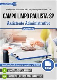 Assistente Administrativo - Prefeitura de Campo Limpo Paulista - SP