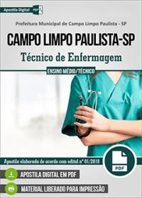Técnico de Enfermagem - Prefeitura de Campo Limpo Paulista - SP