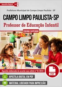 Professor de Educação Infantil - Prefeitura de Campo Limpo Paulista - SP