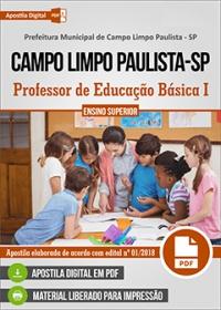 Professor PEB I - Fundamental - Prefeitura de Campo Limpo Paulista - SP