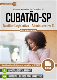 Auxiliar Legislativo - Administrativo II - Câmara de Cubatão - SP