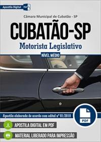 Motorista Legislativo - Câmara de Cubatão - SP