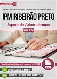 Agente de Administração - IPM Ribeirão Preto - SP