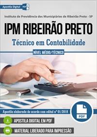 Técnico em Contabilidade - IPM Ribeirão Preto - SP