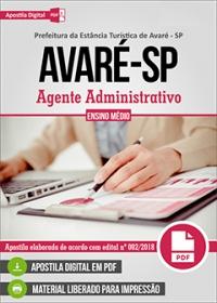 Agente Administrativo - Prefeitura de Avaré - SP