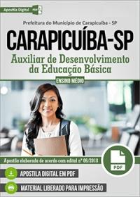 Auxiliar de Desenvolvimento da Educação Básica - Prefeitura de Carapicuíba - SP