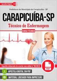Técnico de Enfermagem - Prefeitura de Carapicuíba - SP