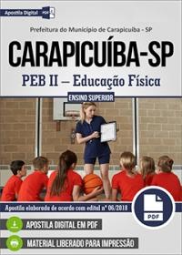 PEB II - Educação Física - Prefeitura de Carapicuíba - SP