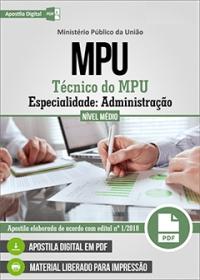 Técnico do MPU - Especialidade: Administração - MPU