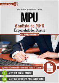 Analista do MPU - Especialidade: Direito - MPU