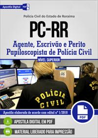 Agente, Escrivão e Perito Papiloscopista de Polícia Civil - Polícia Civil - RR