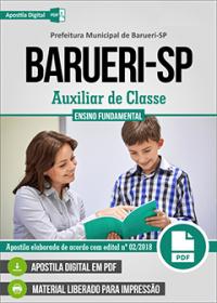 Auxiliar de Classe - Prefeitura de Barueri - SP