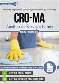 Auxiliar de Serviços Gerais - CRO-MA