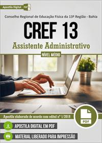 Assistente Administrativo - CREF - 13ª Região - BA